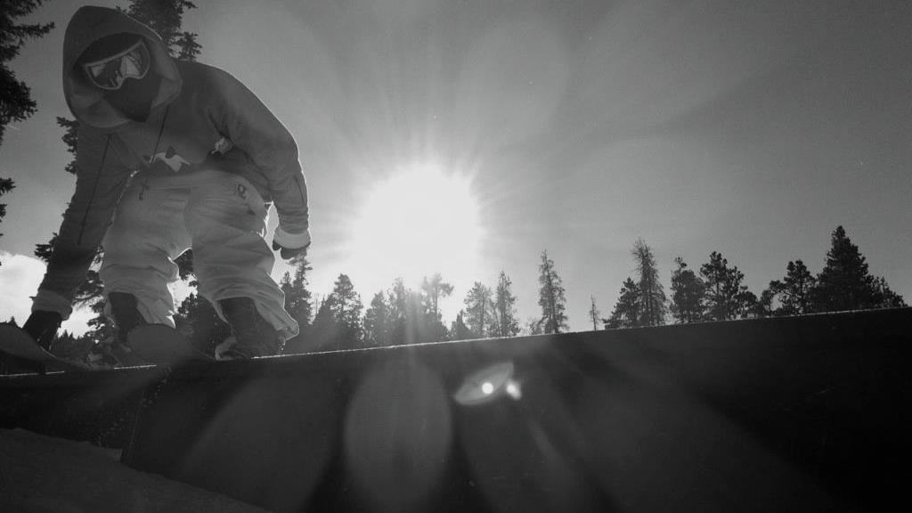 Brandon Enouf bluntslides a box at Keystone, CO. Photo by Matt Hein.