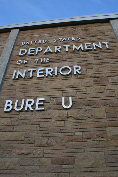 Department of the Interior Bureau of Mines Sign