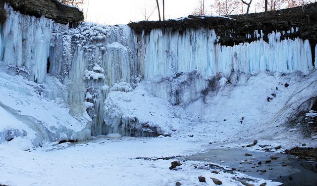 Frozen Falls. Outside Minnehaha Falls - Minneapolis, MN.