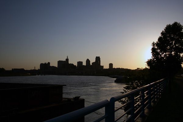 Downtown St Paul, MN Sunset