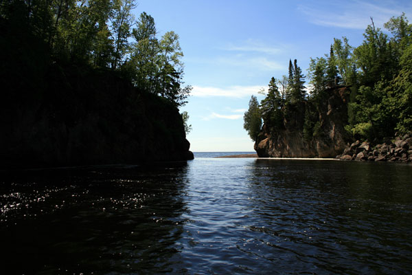 Temperance River meets Lake Superior