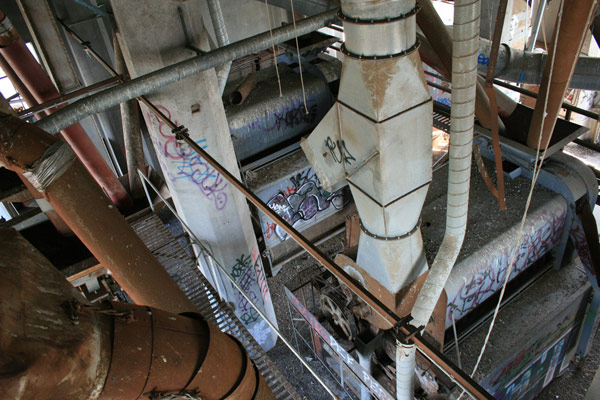 Machinery inside the Bunge Grain Elevator - Minneapolis, MN