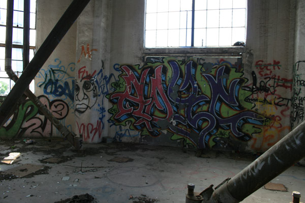 Graffiti inside the Bunge Grain Elevator - Minneapolis, MN