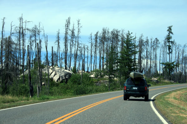 Driving up the Gunflint Trail
