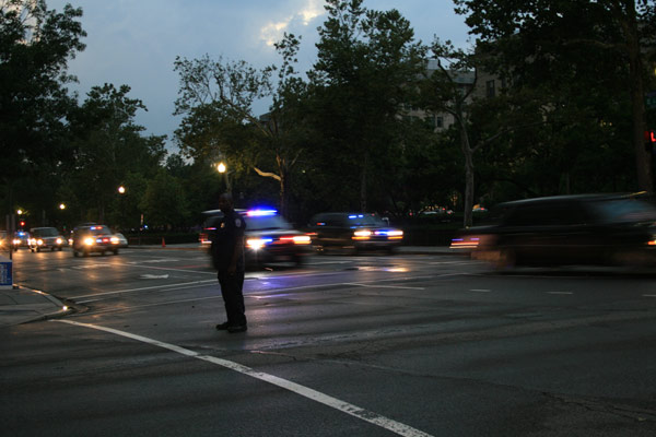 Motorcade going toward the Whitehouse July 29, 2010