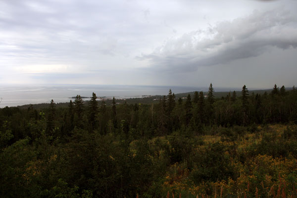 Overlooking Grand Marais from the Gunflint Trail