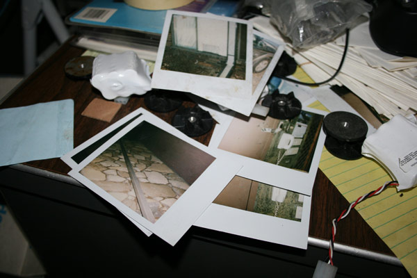 Polaroids in an abandoned hotel